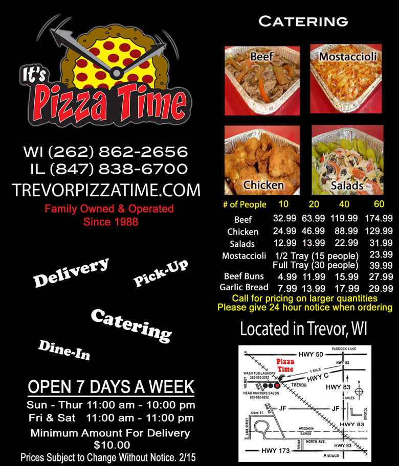 Pizza Time Trevor, WI